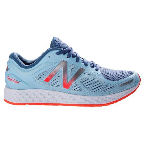 Womens New Balance Fresh Foam Zante v2 Running Shoe - Blue/Orange 10
