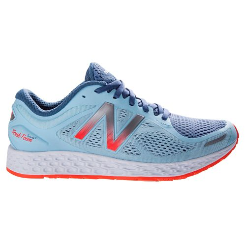 Womens New Balance Fresh Foam Zante v2 Running Shoe - Blue/Orange 9.5