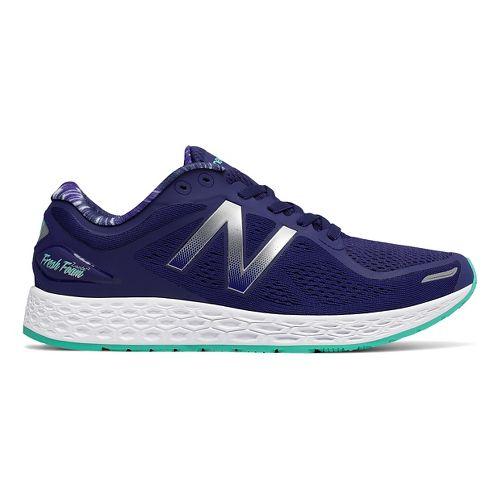 Womens New Balance Fresh Foam Zante v2 Running Shoe - Navy/Teal 10.5