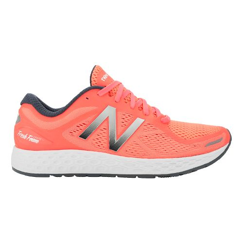 Womens New Balance Fresh Foam Zante v2 Running Shoe - Coral/Silver 12