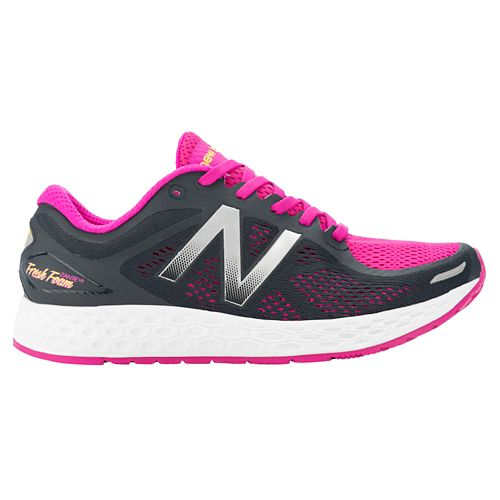 Womens New Balance Fresh Foam Zante v2 Running Shoe - Pink/Black 7.5