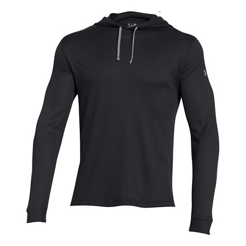 Mens Under Armour Amplify Thermal Hoodie & Sweatshirts Technical Tops - Black XXL