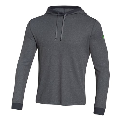 Mens Under Armour Amplify Thermal Hoodie & Sweatshirts Technical Tops - Stealth Grey L