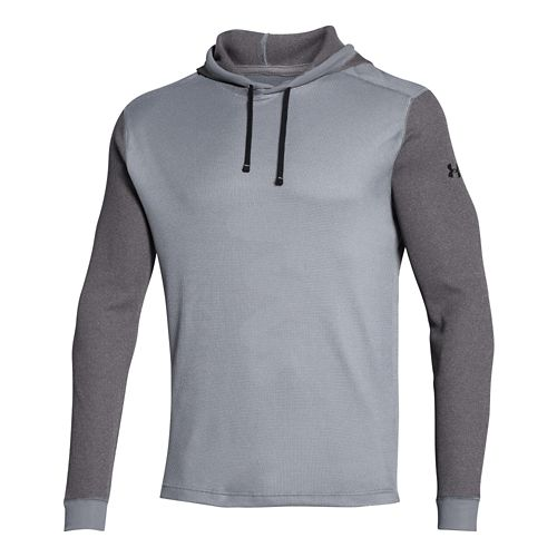 Mens Under Armour Amplify Thermal Hoody Outerwear Jackets - Steel XXL