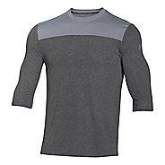 Mens Under Armour 3/4 Sleeve Football T Long Sleeve No Zip Technical Tops