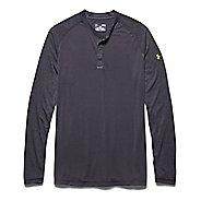 Mens Under Armour Selector Henley Shirt Long Sleeve Half Zip Technical Tops