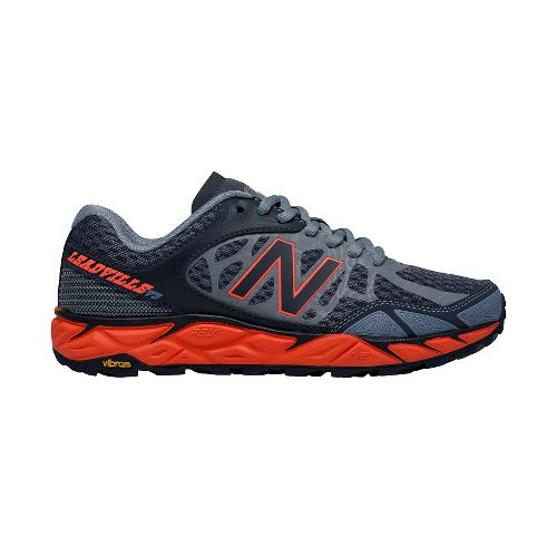 Womens New Balance Leadville v3 Trail Running Shoe - Grey/Dragonfly 7.5