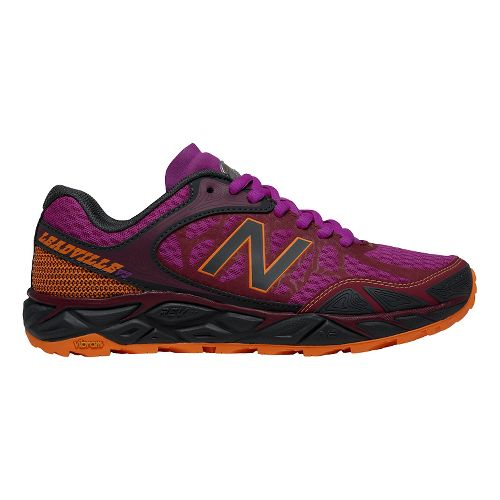 Womens New Balance Leadville v3 Trail Running Shoe - Azalea/Grey 10