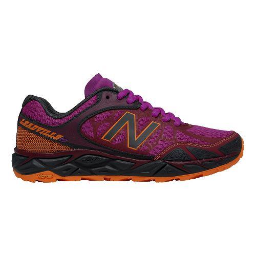 Womens New Balance Leadville v3 Trail Running Shoe - Azalea/Grey 6