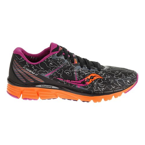 Womens Saucony Kinvara 6 RUNSHIELD Running Shoe - Black/Orange 10.5