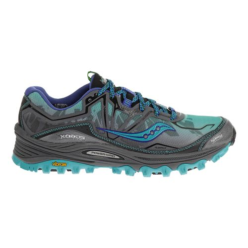 Womens Saucony Xodus 6.0 Trail Running Shoe - Blue/Grey 6