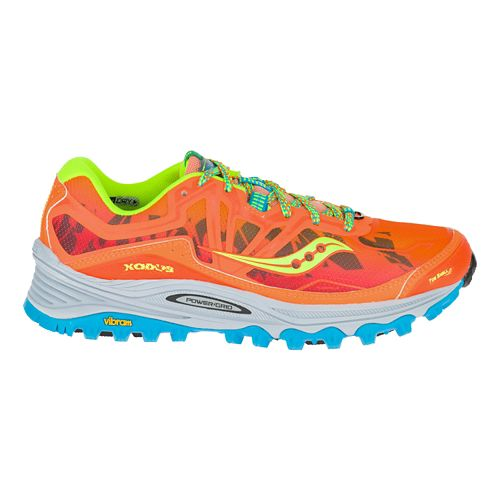 Womens Saucony Xodus 6.0 Trail Running Shoe - Orange/Blue 11.5