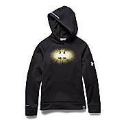 Kids Under Armour Alter Ego Batman Glow-In-The-Dark Storm Hoody Short Sleeve Technical Tops