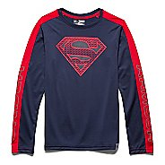 Kids Under Armour Alter Ego Superman Reflective T Long Sleeve No Zip Technical Tops