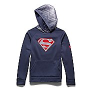 Kids Under Armour Alter Ego Superman Reflective Storm Long Sleeve Hooded Technical Tops