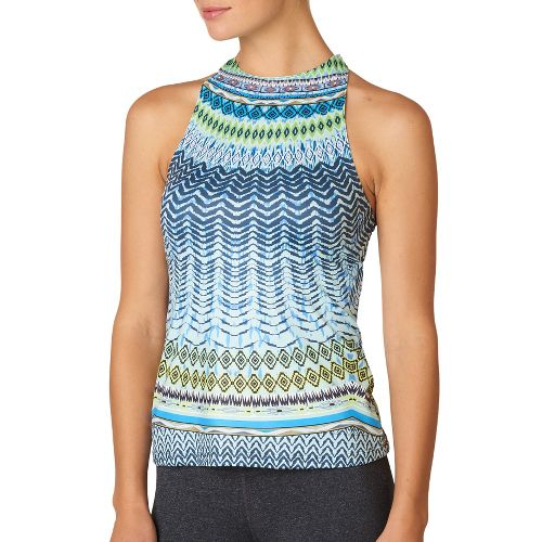 Womens Prana Boost Printed Top Sleeveless & Tank Technical Tops - Blue Sol L