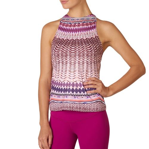 Womens Prana Boost Printed Top Sleeveless & Tank Technical Tops - Violet Sol L
