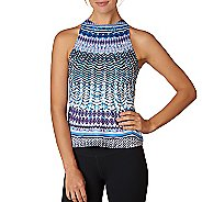 Womens Prana Boost Printed Top Sleeveless & Tank Technical Tops - Peri Sol S