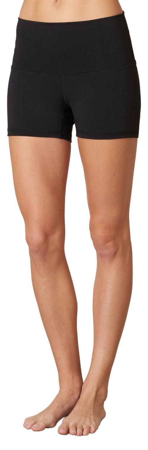 Womens Prana Luminate Compression & Fitted Shorts - Black XS