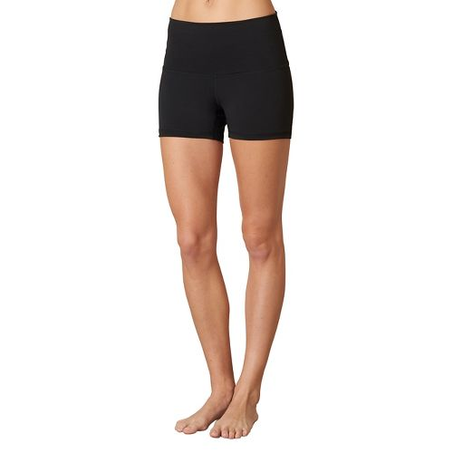 Womens Prana Luminate Compression & Fitted Shorts - Black XS