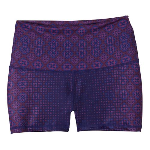 Womens Prana Luminate Compression & Fitted Shorts - Purple XS