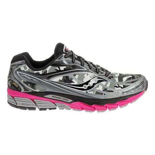 Womens Saucony Ride 8 GTX Running Shoe - Black/Pink 6.5