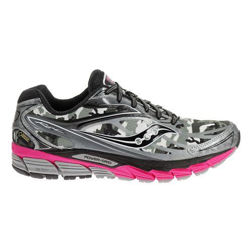 Womens Saucony Ride 8 GTX Running Shoe - Black/Pink 7.5