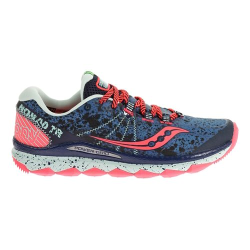 Womens Saucony Nomad TR Trail Running Shoe - Black/Navy 9.5