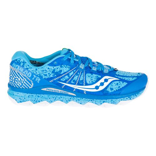 Womens Saucony Nomad TR Trail Running Shoe - Blue/White 10