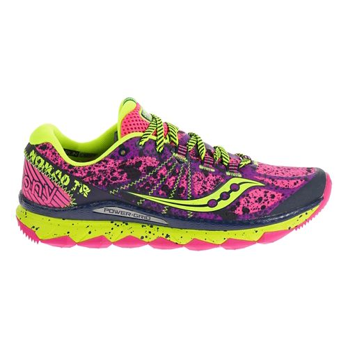 Womens Saucony Nomad TR Trail Running Shoe - Pink/Purple 9.5