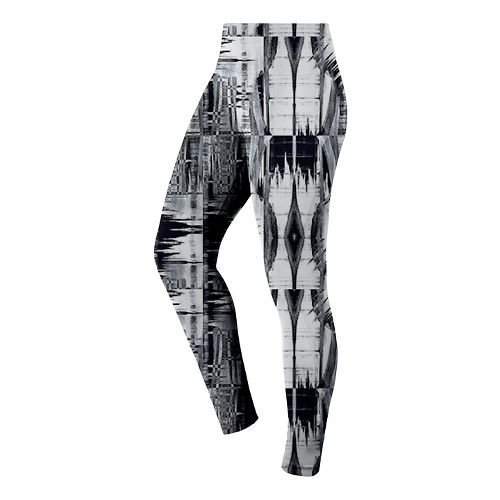 Womens ASICS Printed Tights & Leggings Pants - Black/White M