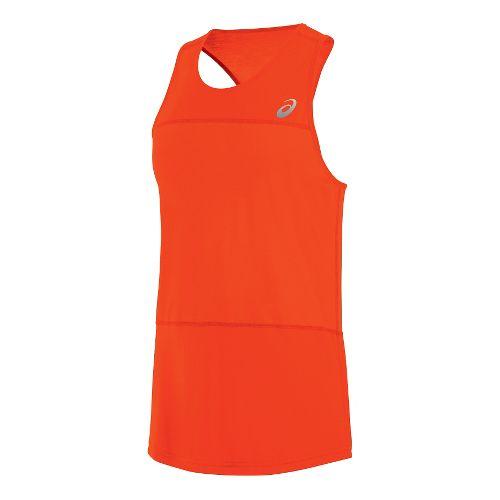 Mens ASICS ASX Dry Sleeveless & Tank Technical Tops - Cone Orange L
