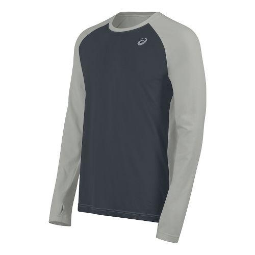 Mens ASICS ASX Dry Long Sleeve Technical Tops - Dark Grey L