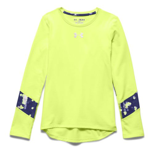 Under Armour Girls Coldgear Long Sleeve No Zip Technical Tops - X-Ray YXL