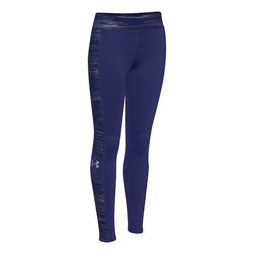 Under Armour Girls Coldgear Legging Full Length Tights - Europa Purple YS