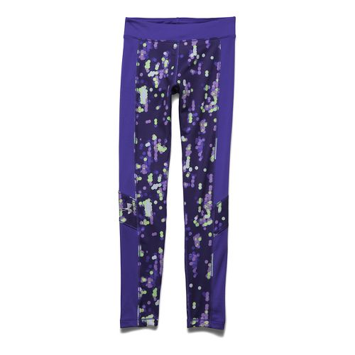 Kids Under Armour Coldgear Legging Full Length Tights - Europa Purple YXL