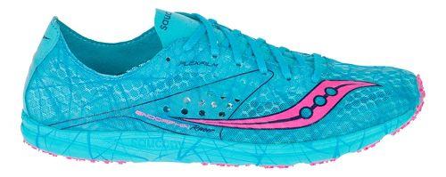 Womens Saucony Endorphin Racer Racing Shoe - Blue/Pink 6.5