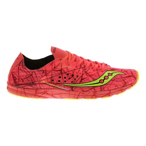 Womens Saucony Endorphin Racer Racing Shoe - Vizi Coral 8.5