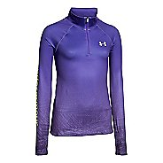 Kids Under Armour Coldgear Cozy Sublimated Long Sleeve Half Zip Technical Tops