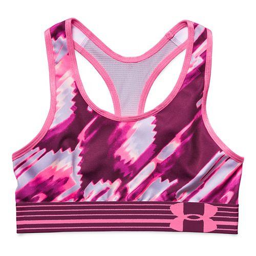 Under Armour Girls HeatGear Armour Printed Sports Bras - Beet YL