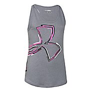 Kids Under Armour Distressed Big Logo Tank Technical Tops