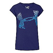 Kids Under Armour Scatter Big Logo Raglan Short Sleeve Technical Tops