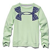 Kids Under Armour Charged Cotton Crew Long Sleeve No Zip Technical Tops