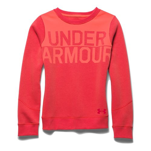 Kids Under Armour�Charged Cotton Wordmark Crew