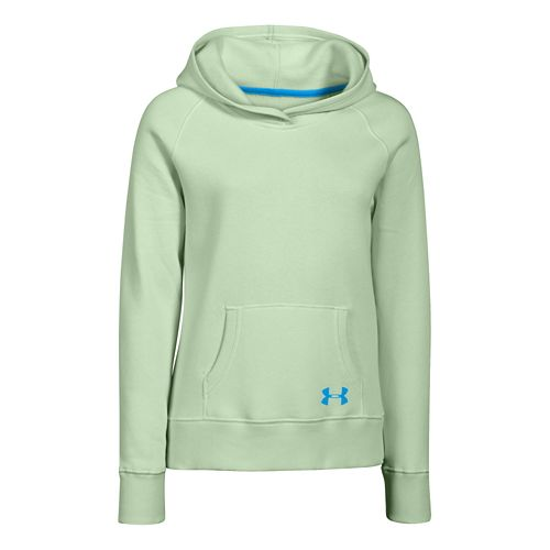 Kids Under Armour Rival Cotton Solid Hoody Outerwear Jackets - Minty YS