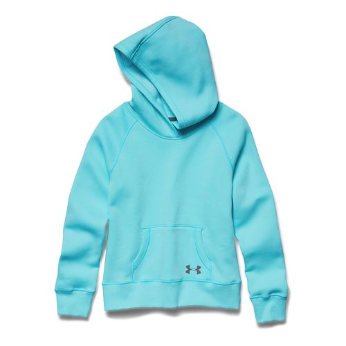 Kids Under Armour Rival Cotton Solid Hoody Outerwear Jackets - Veneer YXL