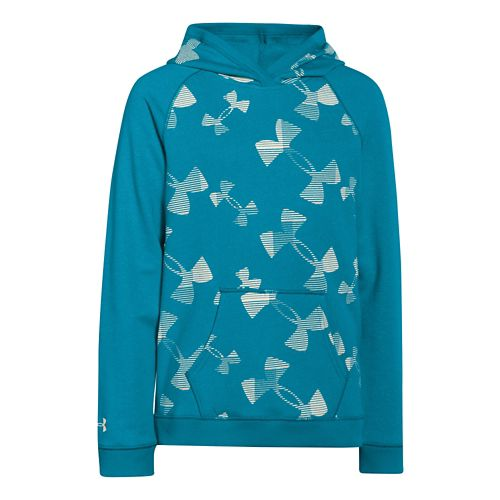 Kids Under Armour Kaleidelogo Hoody Outerwear Jackets - Pacific YS