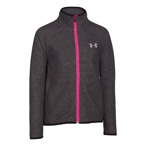 Kids Under Armour Coldgear Infrared Survivor Full-Zip Outerwear Jackets - Black YM