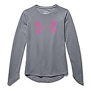 Kids Under Armour Waffle Long Sleeve No Zip Technical Tops