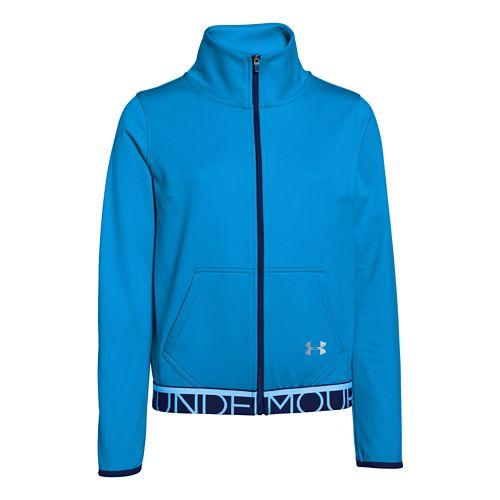 Kids Under Armour Eliminate Track Outerwear Jackets - Jazz Blue YXL